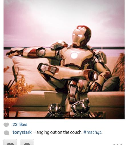 Si los súper héroes tuviesen Instagram…
