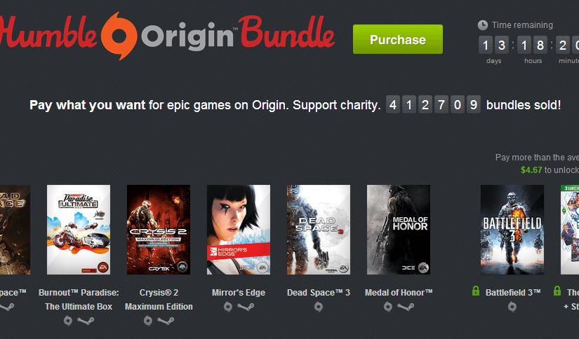 The Humble Origin Bundle, grandes juegos al precio que quieras