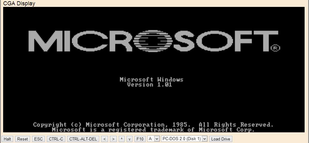 Prueba Windows 1.01 y otros sistemas viejos desde tu navegador