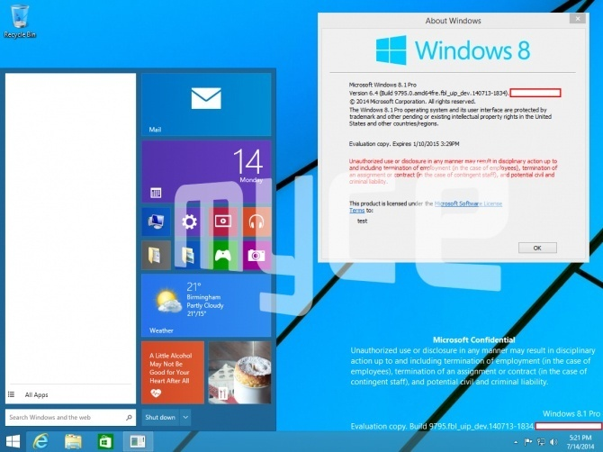 Nuevas imágenes de Windows 9