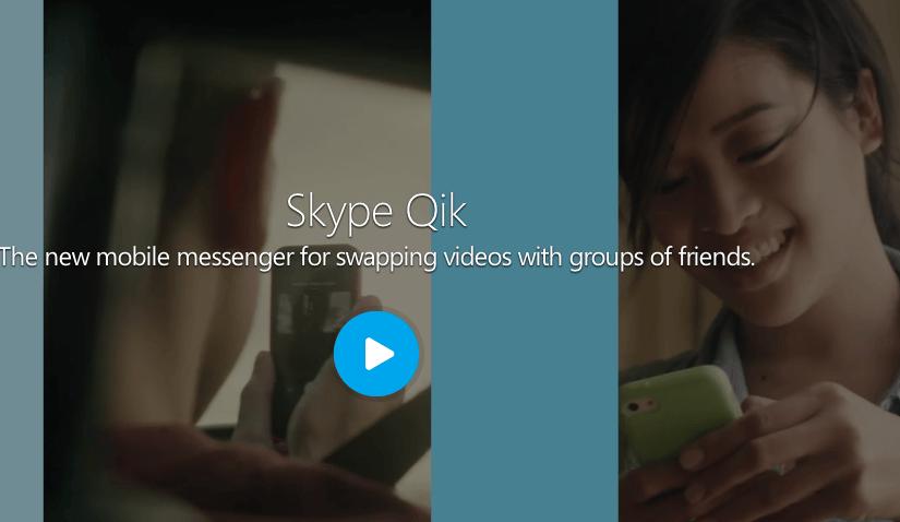 Skype Qik, envia mensajes de video