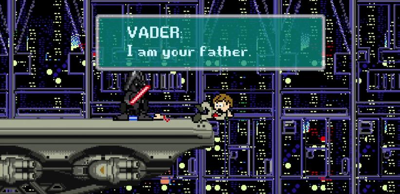 La trilogía inicial de Star Wars recreada en 8-bits