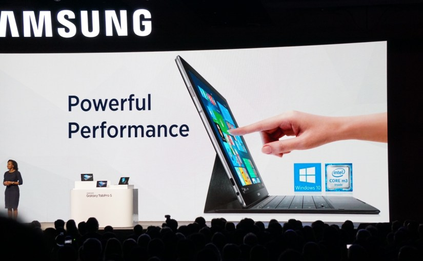 Galaxy TabPro S, nueva tablet de Samsung con Windows 10