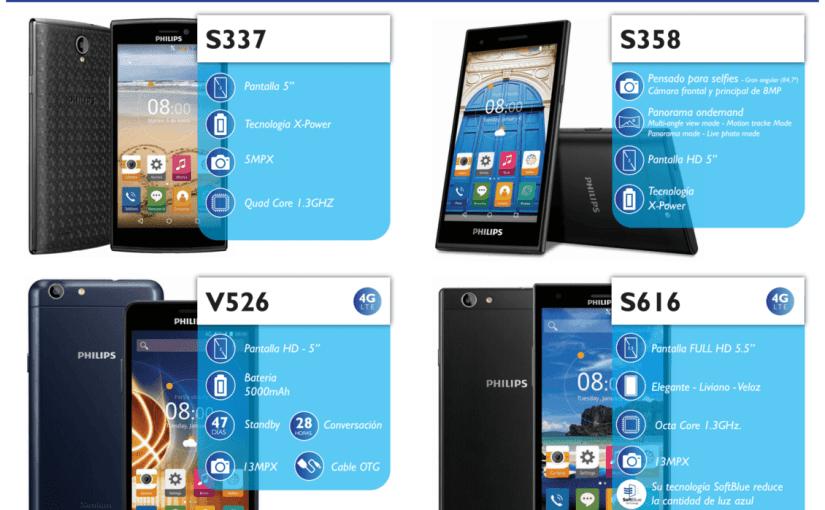 Philips presenta 4 nuevos smartphone en Argentina