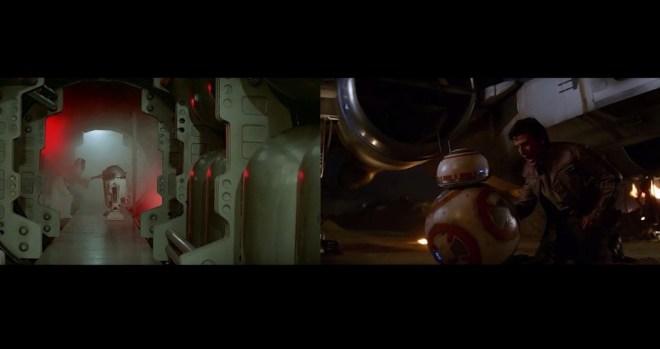 Star Wars, comparativa entre los episodios IV y VII