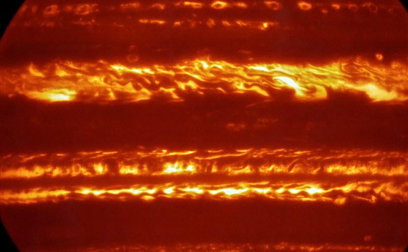 Increíble nueva imagen de Júpiter en infrarrojo