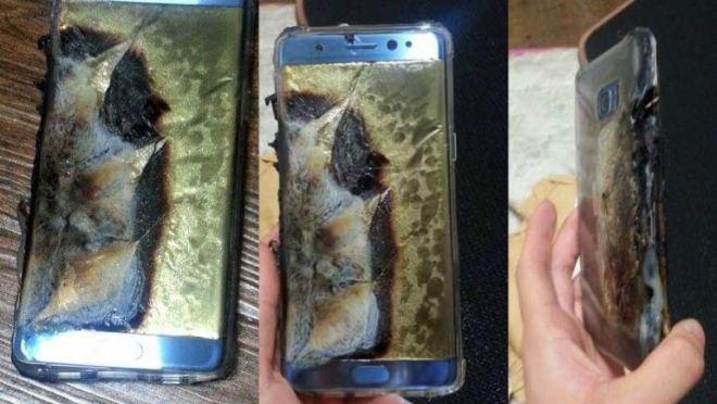 Samsung Galaxy Note 7 que explotan