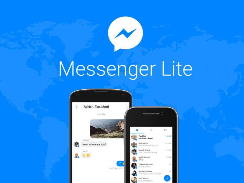 Facebook lanza Messenger lite