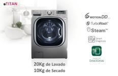 LG presenta su nueva linea de lavarropas Titan