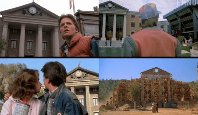 Volver al futuro comparativa de escenas