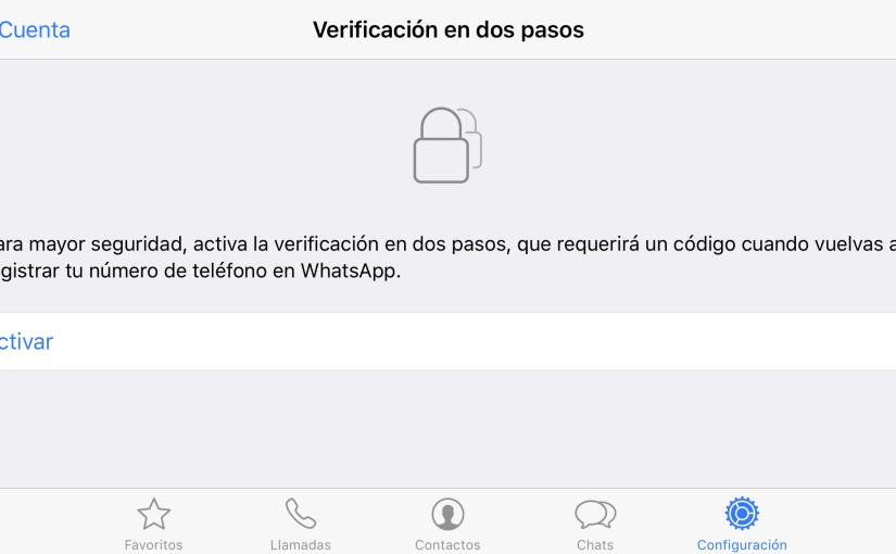 WhatsApp habilita la verificación de dos pasos para todos sus usuarios