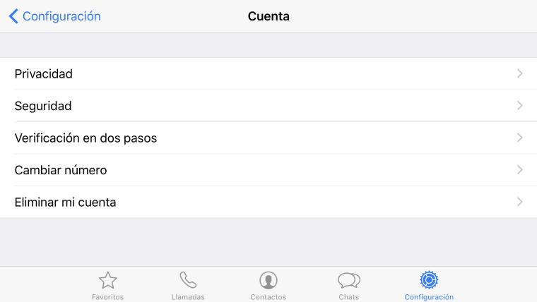 WhatsApp, verificación de dos pasos