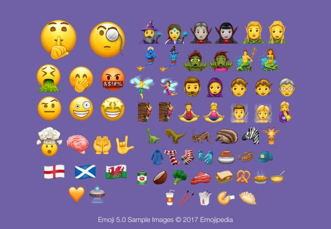 Emojis 2017 lista completa