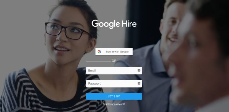 google hire login page