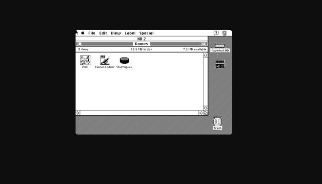 Emulador con viejas aplicaciones de MacOS