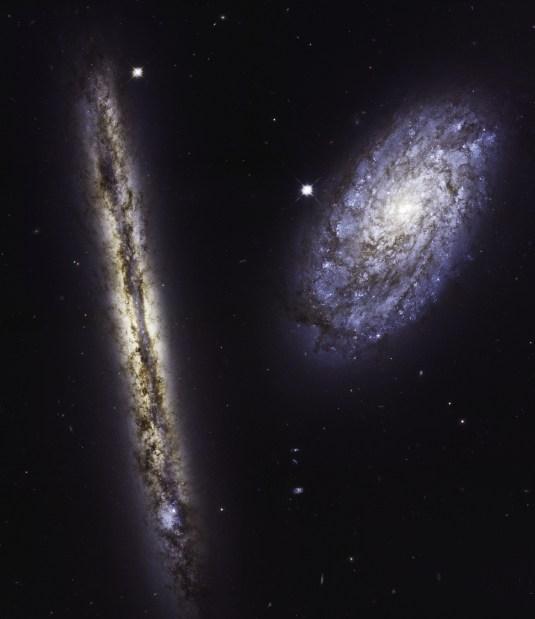 27 años del telescopio Hubble con una asombrosa imagen de dos galaxias espirales