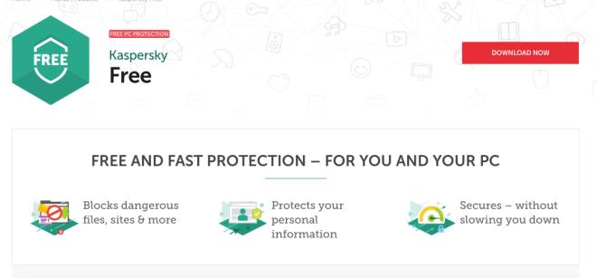 kaspersky free, antivirus gratis