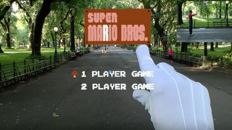 Super Mario con HoloLens