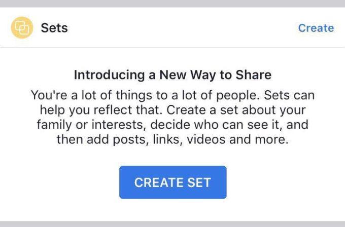 Facebook y su funcionalidad tipo Pinterest