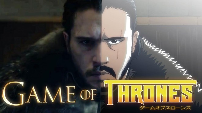 Game of Thrones, intro estilo anime