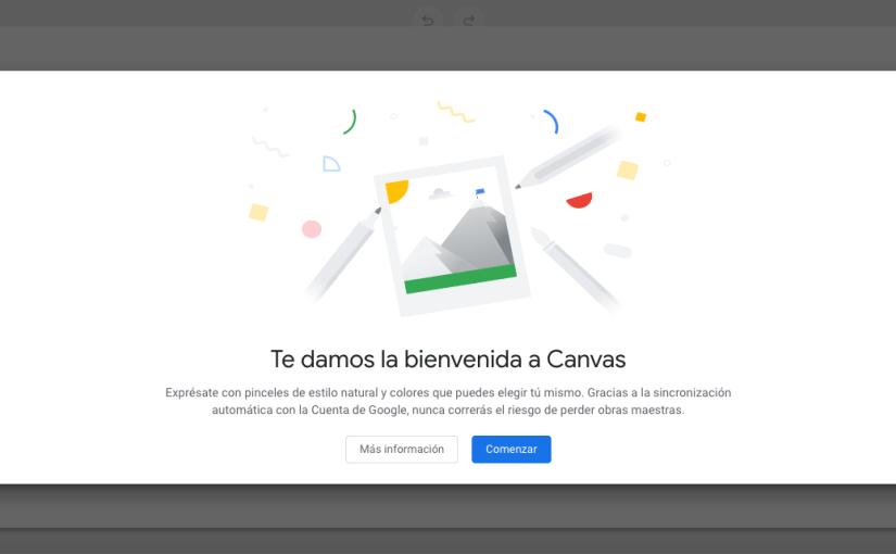 Google Canvas, nueva aplicación de notas y dibujos incluida en Chrome