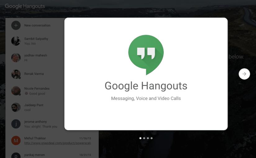 El clásico Google Hangouts ya cuenta con fecha de retiro