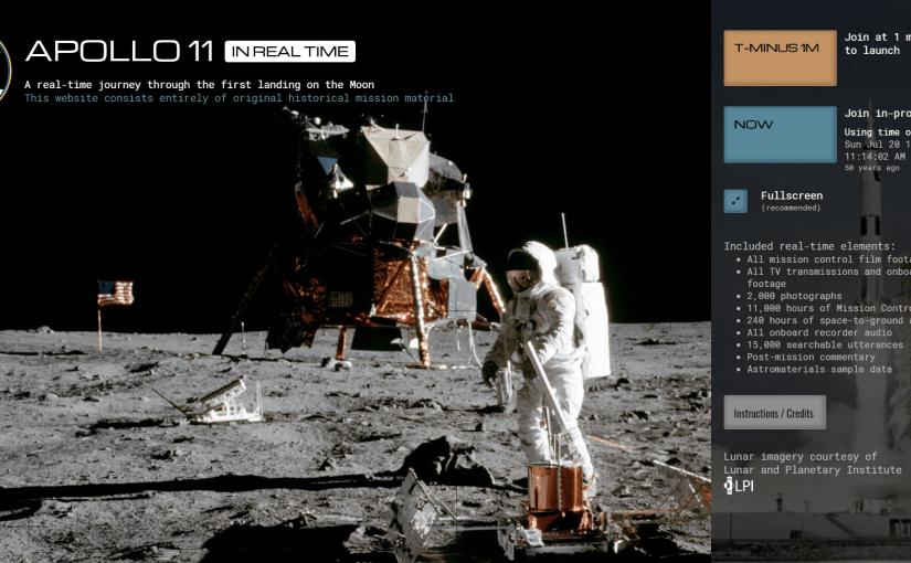 Revive la misión del Apolo 11 en tiempo real