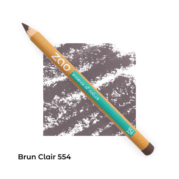 Crayons bio multi-usages Brun clair 554 -- Zao Make up