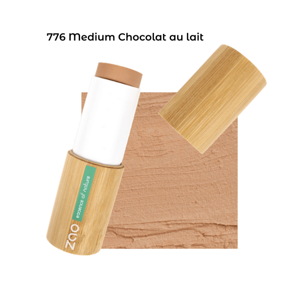 Fond de teint stick Medium Chocolat au lait 101776 visu - Zao Makeup