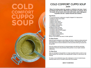 Cuppo Soup Powder Recipes Pages