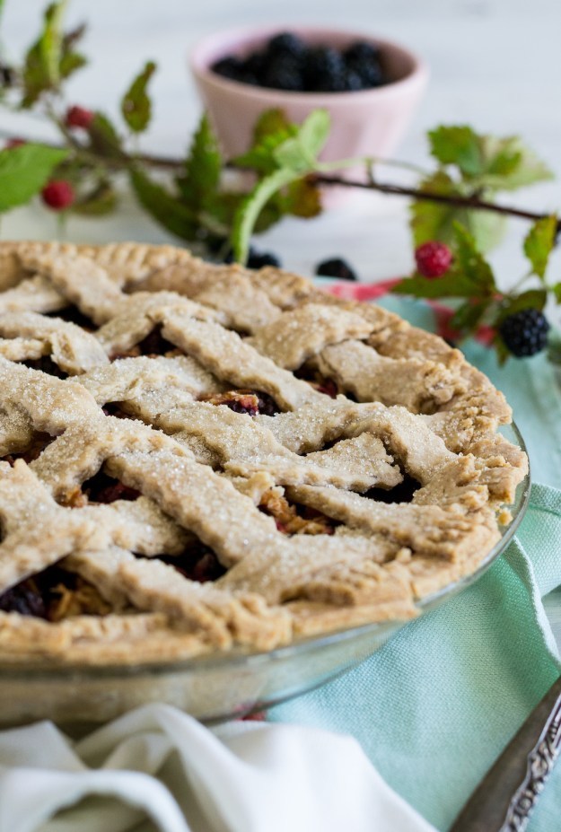 Vegan Wild Blackberry Pie by An Unrefined Vegan