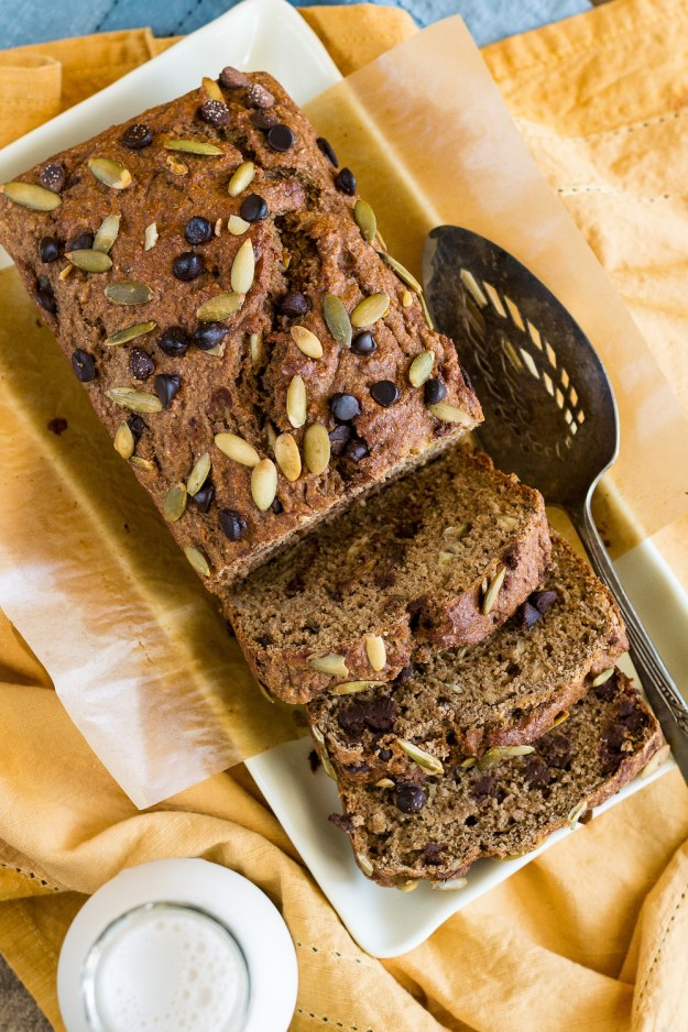 Oil-free Oatmeal Stout Chocolate Chip Banana Bread by An Unrefined Vegan