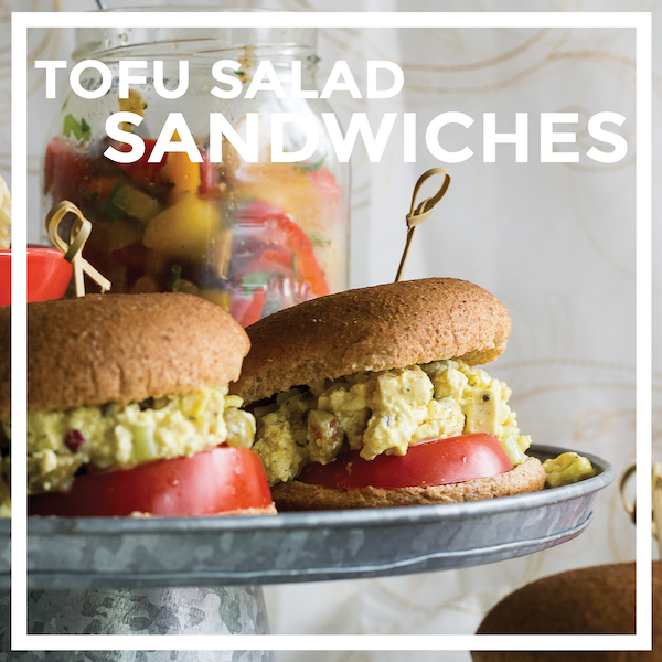 Easy Tofu Salad Sandwiches by Unrefined Vegan