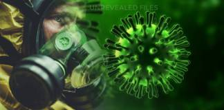 Artistic illustration of Dark and Conspiracy sides of Coronavirus Pandemic