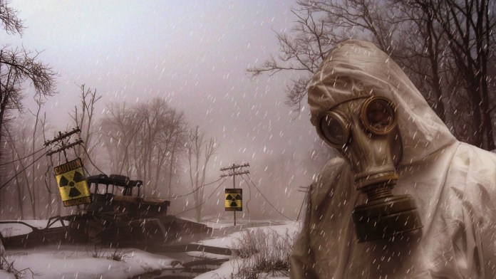 Artistic Illustration of Nuclear Winter representing the potential aftermath of a nuclear war.