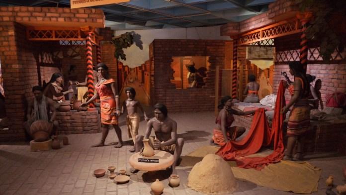 सिंधु घाटी (हड़प्पा सभ्यता) के कलात्मक पुनर्निर्माण द्योरामा।