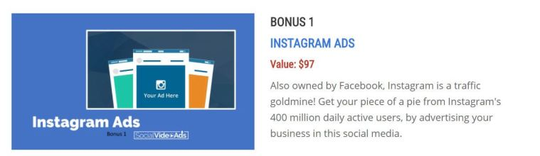 Social Video Ads Bonus