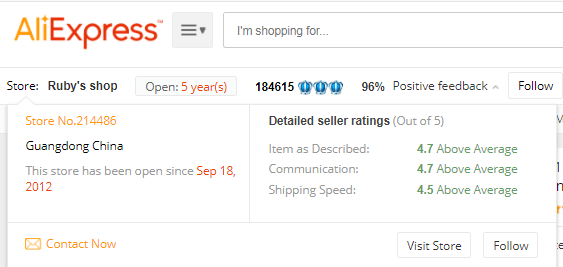 AliExpress Review Supplier
