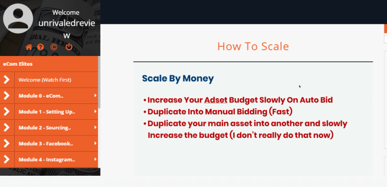 ecom elites how to scale