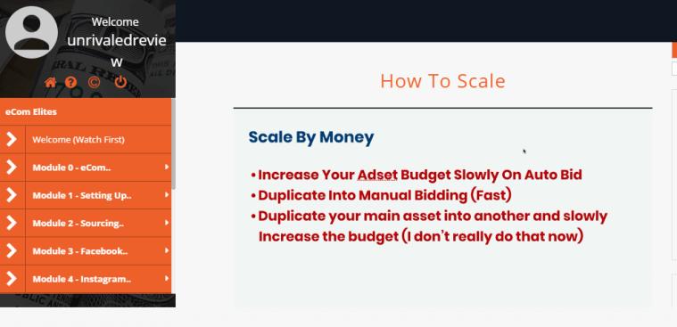 ecom elites how to scale