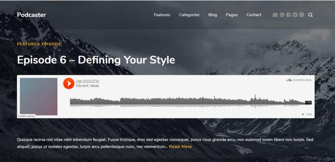 Podcaster WordPress Podcast Theme