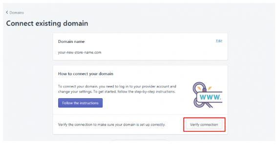 Shopify Verify Domain Connection