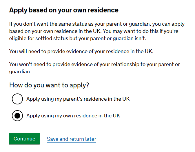 cum aplici pentru rezidenta copii 2 alege