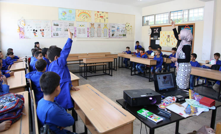Students at the UNRWA al-Majdal-Haifa School in Damascus, Syria. © 2019 UNRWA Photo by Taghrid Mohammad.