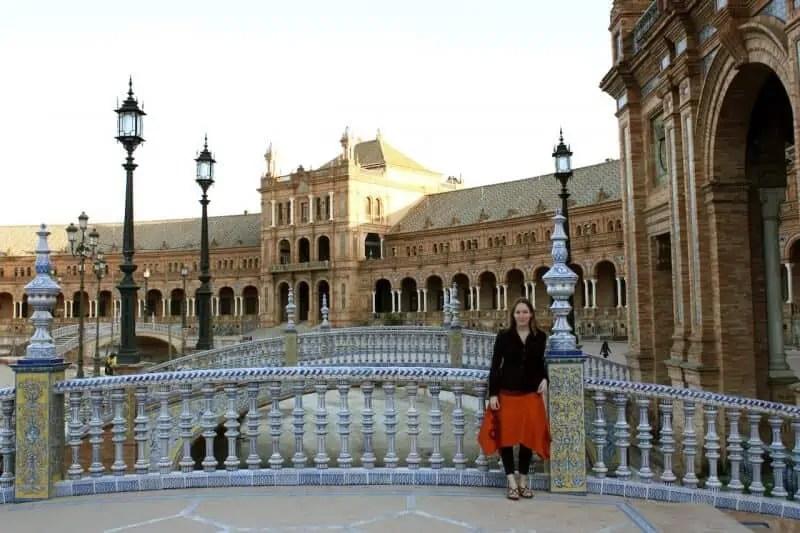 Sur les ponts de la Plaza de Espagna