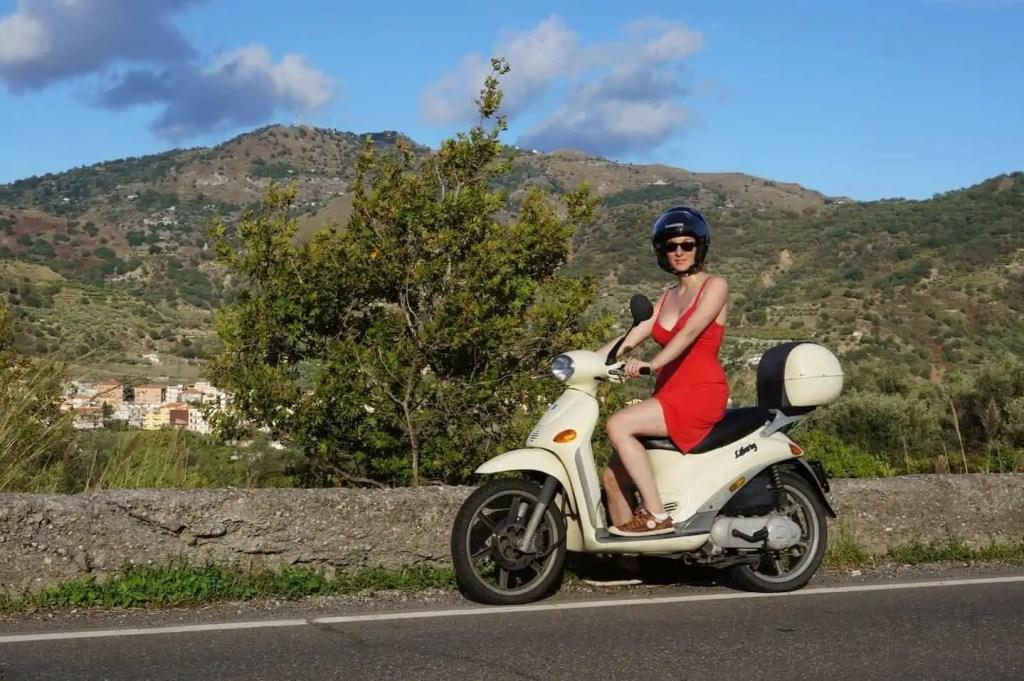 Motocyclette Sicile Italie