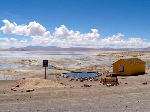 sources chaudes d'Augaus Calientes Andes Bolivie