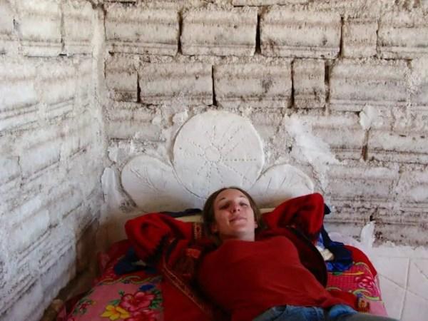 Lit de sel, hôtel de sel, Uyuni, Bolivie