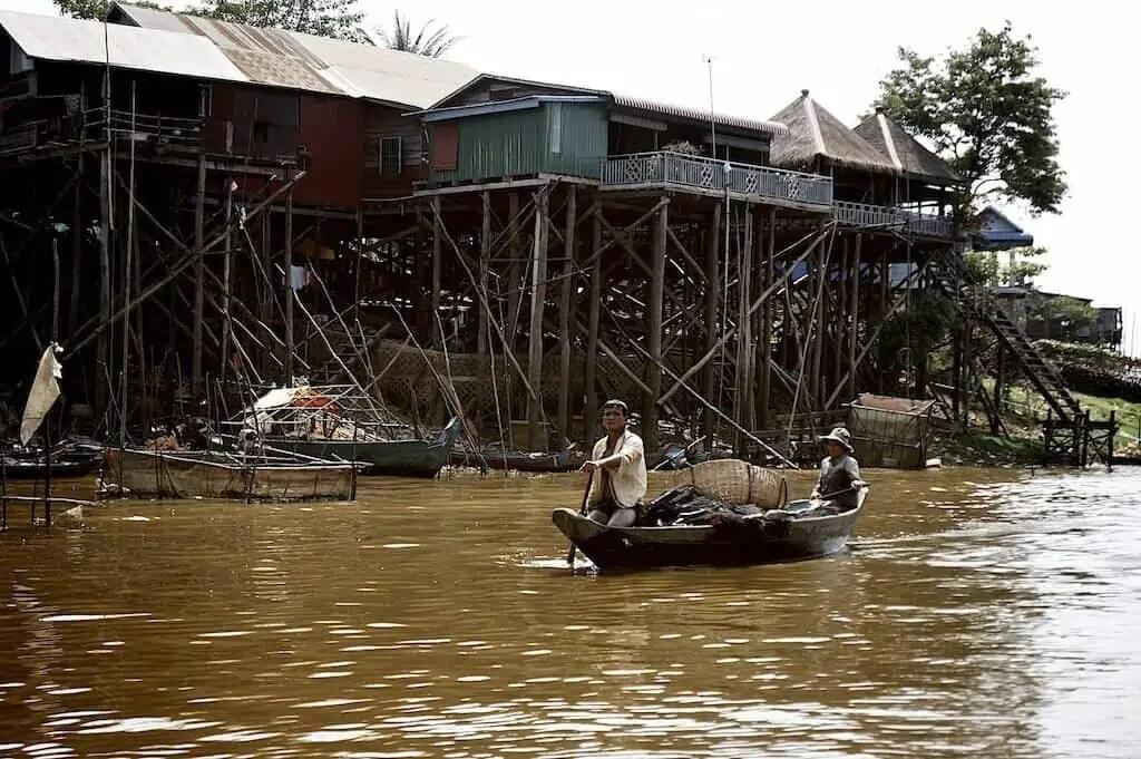 Village flottant, Cambodge, Asie