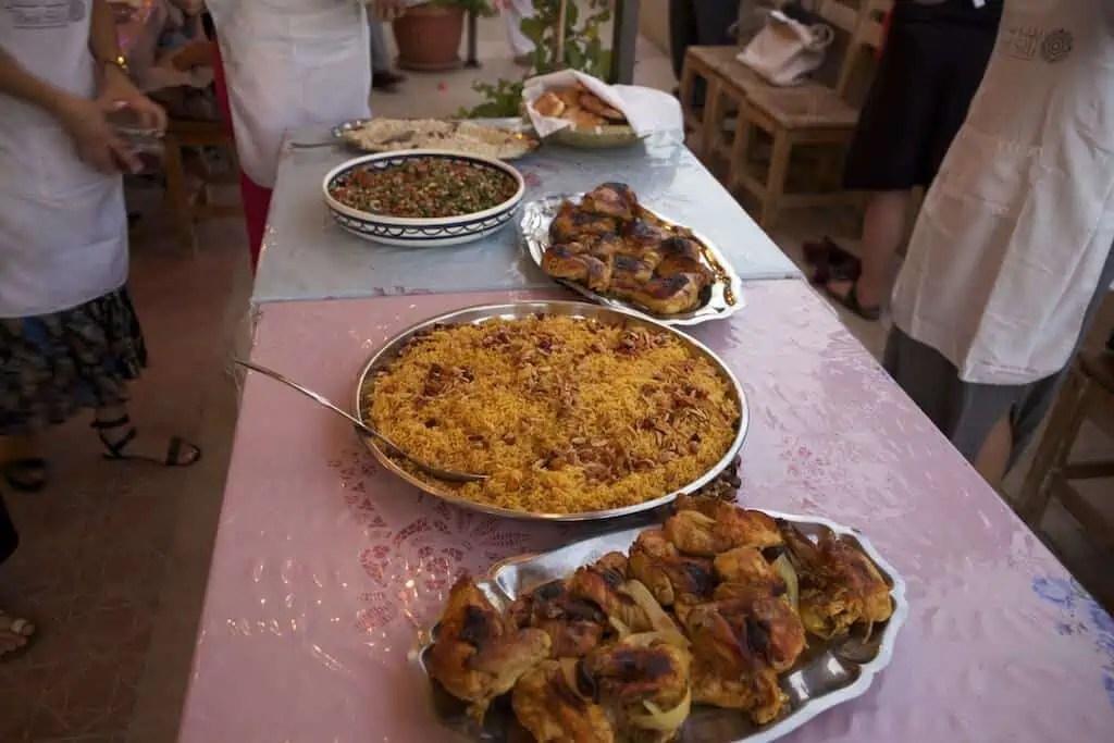 Cours cuisine jordanienne